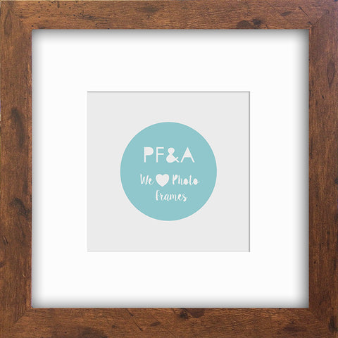 "Rustic Wood Effect Photo Frame 8x8"" For 5x5"""