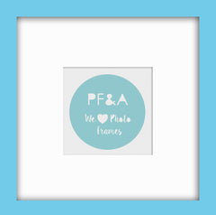 "Olympia Light Blue Instagram Photo Frame 8x8""/ 4x4"" - photoframesandart"