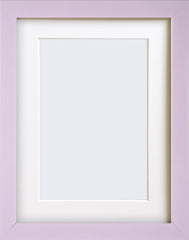 "Olympia Glossy Lilac Photo Frame 9x7"" For 7x5"" With Soft Cream Mount - photoframesandart"