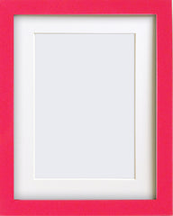 "Olympia Glossy Cerise Pink Photo Frame 9x7"" For 7x5"" With Soft Cream Mount - photoframesandart"