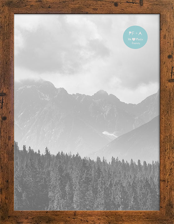Rustic Wood Effect Photo Frame A3 for A4 with a soft white mount