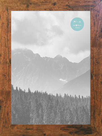 Rustic Wood Effect Photo Frame A4 Certificate No Mount