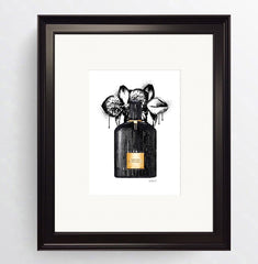 Perfume - ' Tom Ford Black Orchid ' Black Framed Art Picture 36 x 31cm - photoframesandart