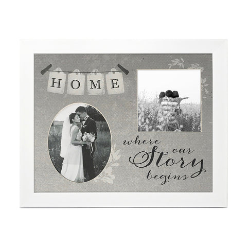 Home Where Our Story Begins - 25.5cms x 20cms