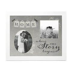 Home Where Our Story Begins - 25.5cms x 20cms - photoframesandart