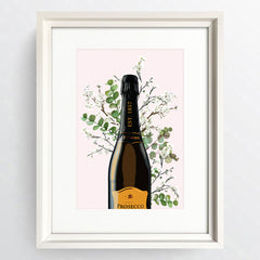 """Happy Hour Prosecco"" White Framed Art Picture   16x12"" - photoframesandart"