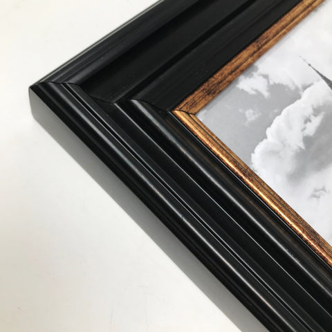 Vintage Black Shabby Chic Photo Frame - 9x7""