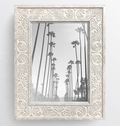 Shabby Chic Provence Cream / Grey Distressed Ornate Wedding Photo Frame A5 No Mount