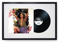 "12"" Vinyl LP Record and Album Cover Black Frame with White Mount (25""x17"") - photoframesandart"