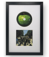 "14 x 9"" Oxford Black Photo Frame Suitable For A CD And It's Cover With A White Mount - photoframesandart"