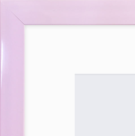 "Olympia Glossy Lilac Instagram Photo Frame 8x8"" For 4x4"" With Soft Cream Mount"