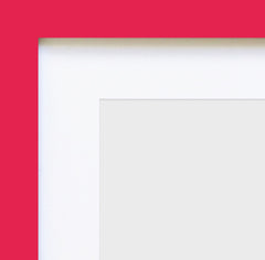"Olympia Glossy Pink Square Instagram Photo Frame 4x4"" No Mount - photoframesandart"
