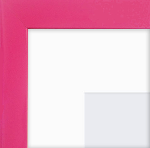 "Olympia Glossy Cerise Pink Photo Frame 7x5"" For 5x3'' With Soft Cream Mount"