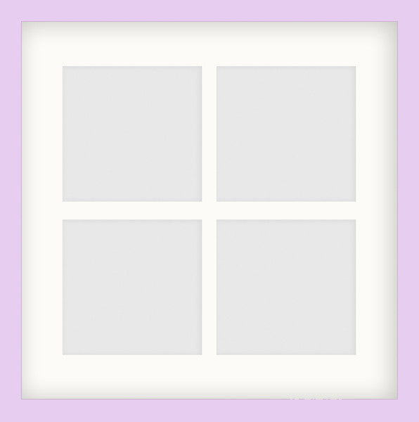 "Olympia Glossy Lilac Photo Frame 14x14"" Instagram Multi - photoframesandart"