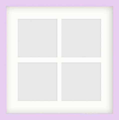 "Olympia Glossy Lilac Photo Frame 14x14"" Instagram Multi For x4 5x5'' With Soft Cream Mount"