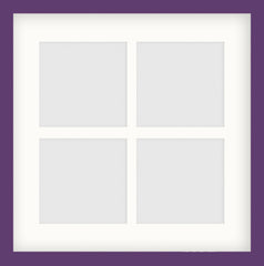 "Olympia Glossy Purple Photo Frame 14x14"" Instagram Multi - photoframesandart"