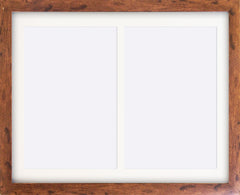 "Rustic Wood Effect Multi Photo Frame 20x14"" For x2 A4 Multi With Soft Cream Mount - photoframesandart"