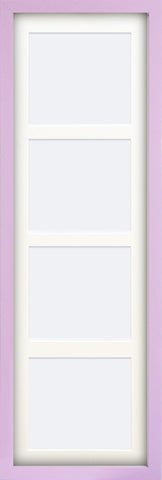 "Olympia Glossy Lilac Photo Frame 28x10.5"" For x4 8x6"" Multi With Soft Cream Mount"