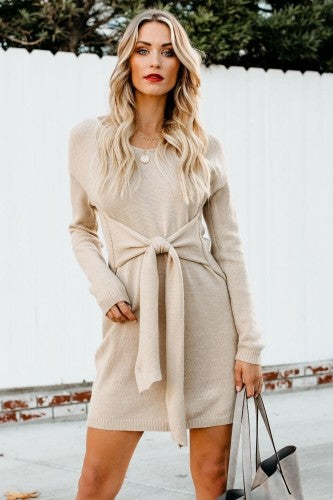 UPFRONT SWEATER DRESS