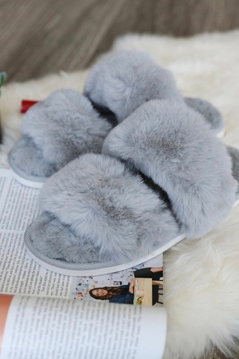 FLUFFED UP SLIPPERS