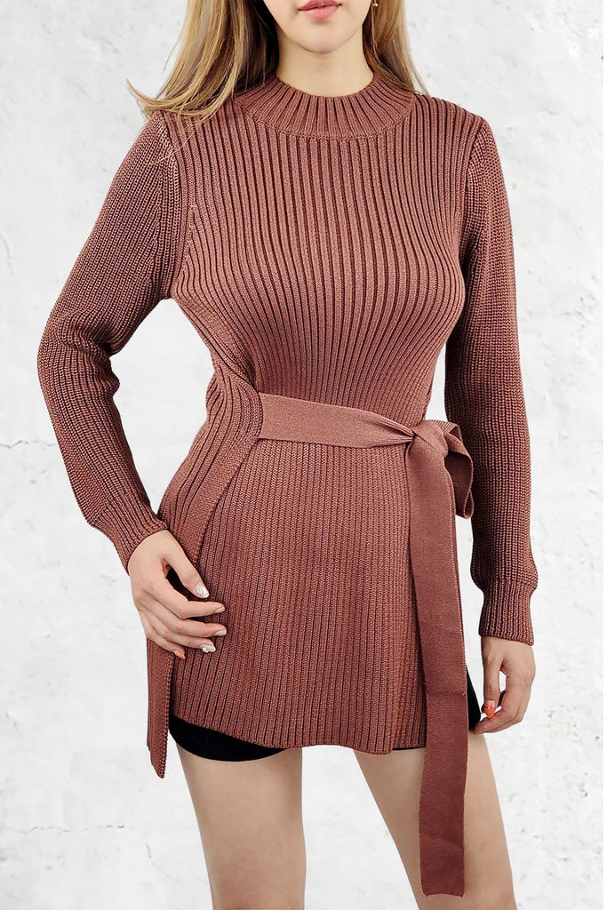 CINCHED AND LOVIN IT SWEATER