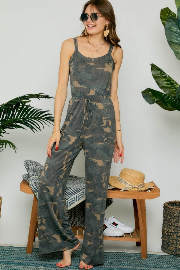 JUST CAMOUFLAGING JUMPSUIT