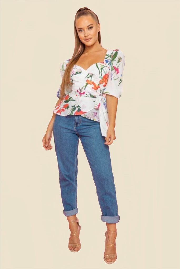 FLORAL AND FUN TOP