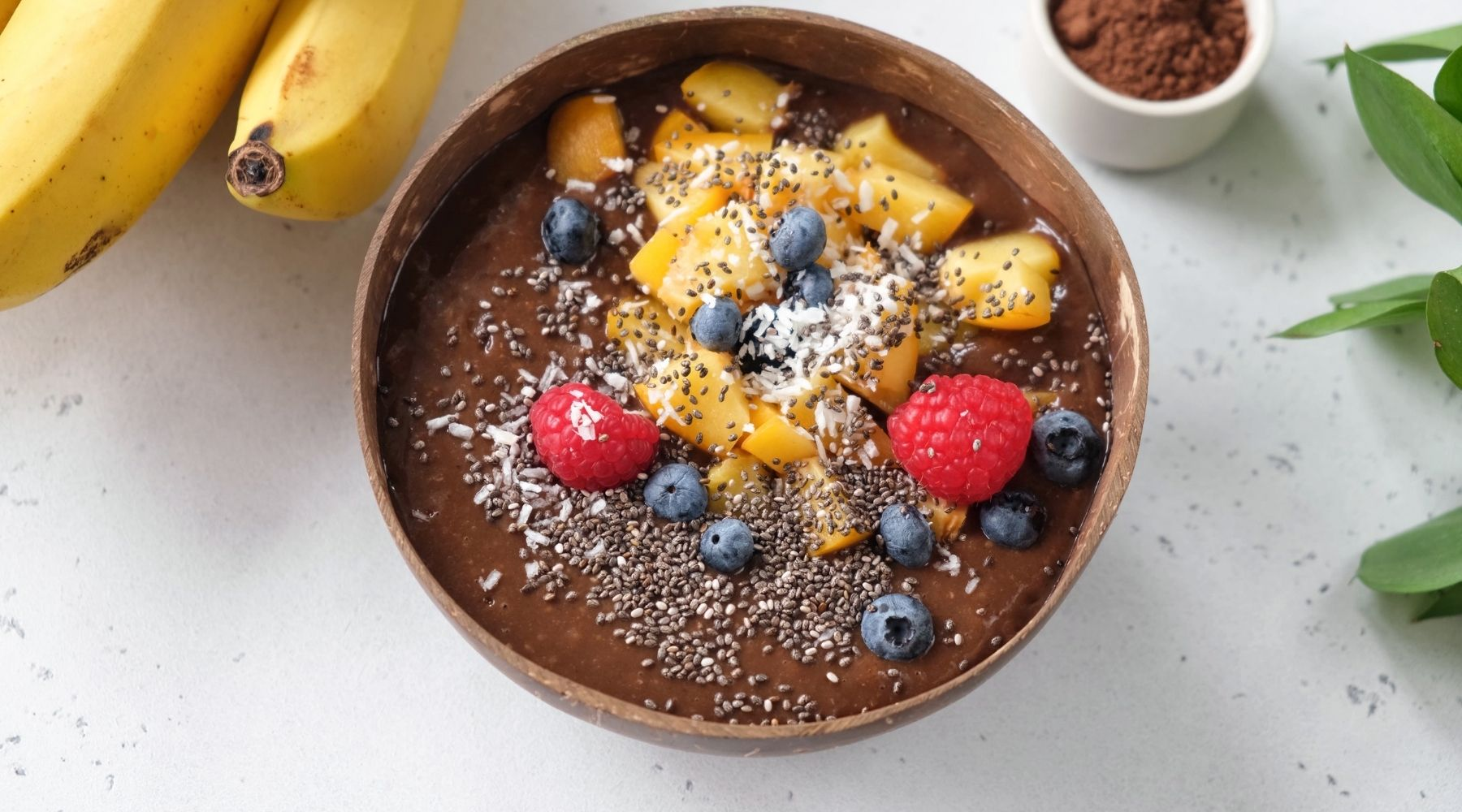 Chocolate Protein Acai Bowl