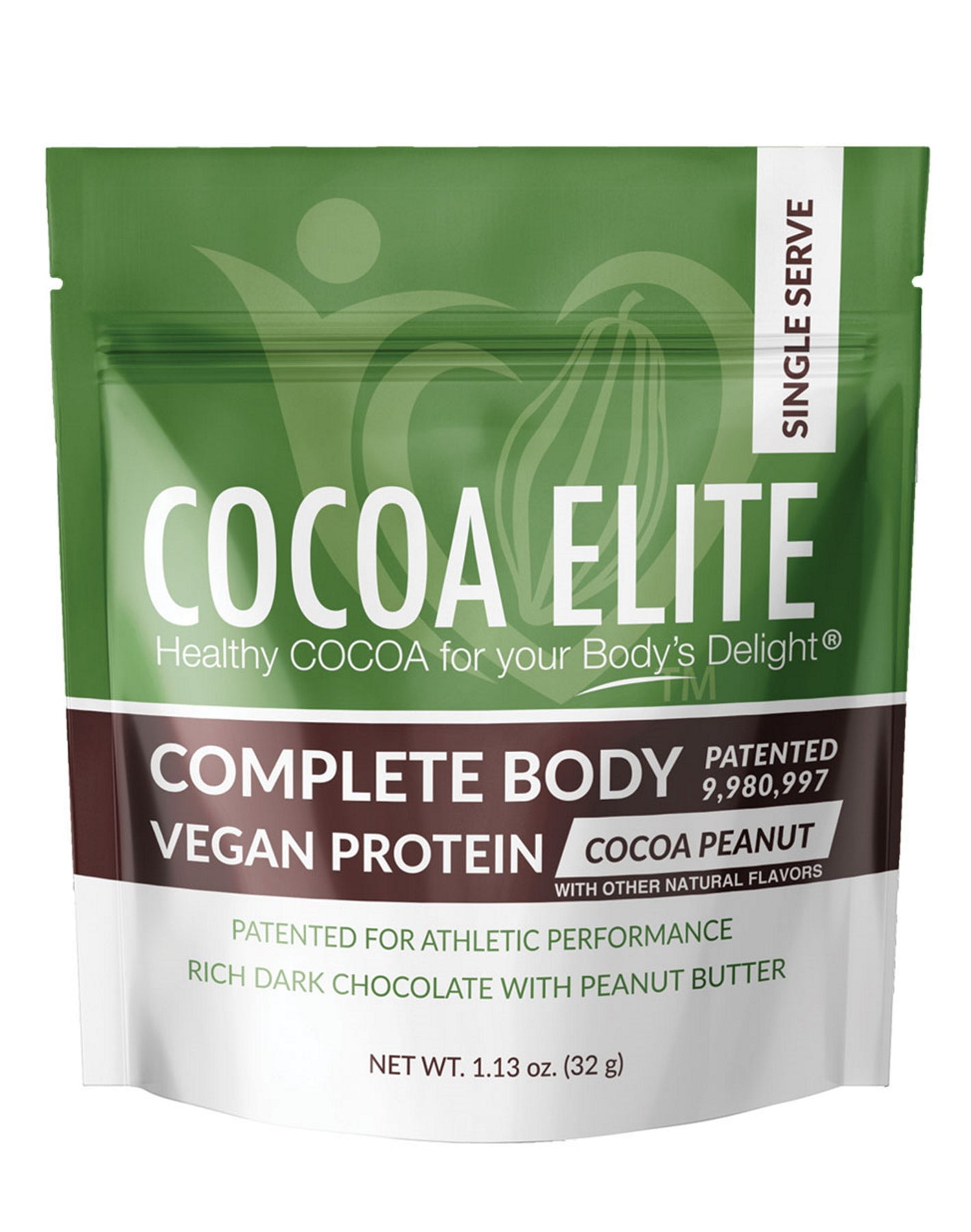 Vegan Protein Chocolate Peanut - Single Serve