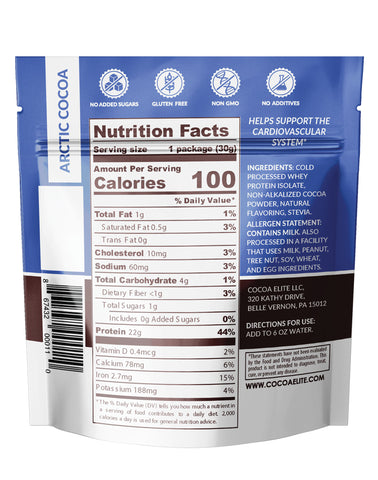 Everyday Cocoa Whey - Single Serve, 5 great flavors