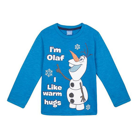 Disney Frozen Baby Boys' Blue Long Sleeved Olaf T-Shirt
