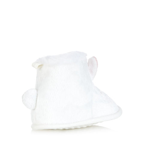Bluezoo Baby; White Bunny Booties