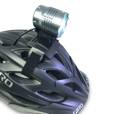 Stupidbright Bicycle Helmet Mount for Cree Powered LED Bike Light. Gemini, Magicshine, Night Provision BX-300