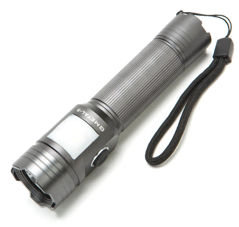 NIGHT PROVISION™ GMETAL-5 | DUAL FUNCTION FLASHLIGHT & LANTERN 500 LUMEN TACTICAL FLASHLIGHT Torch USB RECHARGABLE PCB 18650