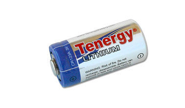 2 PACK TENERGY LITHIUM CR123A 3V PROPEL PRIMARY BATTERY PTC