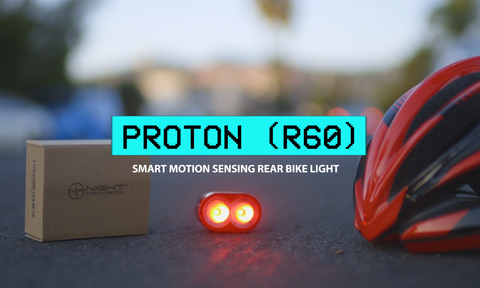 PROTON R60 MOTION SENSING BIKE BRAKE LIGHT USB RECHARGEABLE TAIL LIGHT