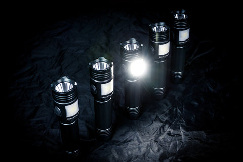 NIGHT PROVISION™ GMETAL-5 | DUAL FUNCTION FLASHLIGHT & LANTERN 500 LUMEN TACTICAL FLASHLIGHT Torch USB RECHARGABLE PCB 18650 (LIMITED EDITION)