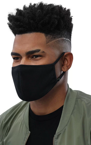Smooth Black Comfortable Face Mask (3-Pack)