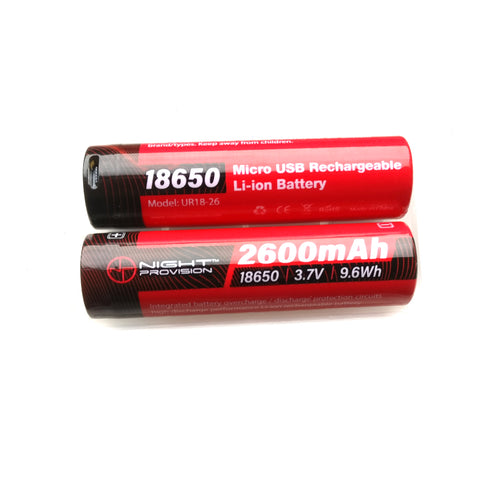 3.7V 2600MAH USB RECHARGEABLE 18650 BATTERY LI-ION  5.2A