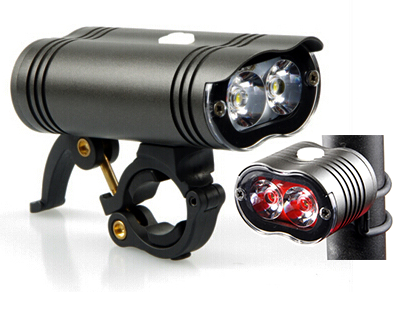 NIGHT PROVISION™ NIPRO MR1 | M1 1600 LUMEN HEADLIGHT & R1 200 LUMEN REAR BICYCLE TAIL LIGHT (Matching Set)