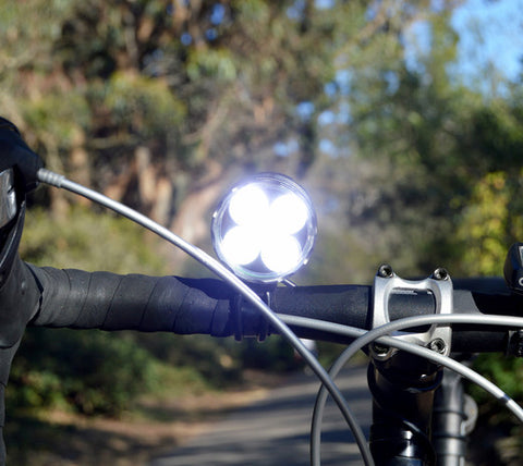 SB2600 LED BIKE LIGHT SET: 2600 LUMEN XML-T6 LED - SEALED ABS POLYMER BATTERY PACK & HELMET MOUNT