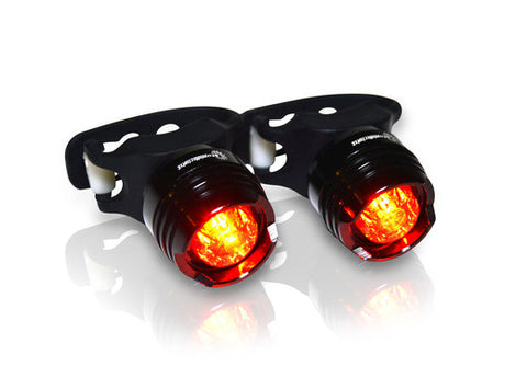 STUPIDBRIGHT™ SBR1 MICRO REAR HIGH INTENSITY LED BICYCLE TAIL LIGHT WATER & SHOCK PROOF (SBF1) (SBFR1) (2 PACK)