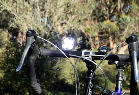 SB1600 LED BIKE LIGHT SET: 1600 LUMEN XML-T6 LED - SEALED ABS POLYMER BATTERY & HELMET MOUNT