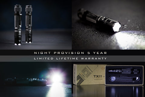 NIGHT PROVISION™ TX11 | TACTICAL FLASHLIGHT TORCH CREE XPL-HD 1000 LUMEN LED