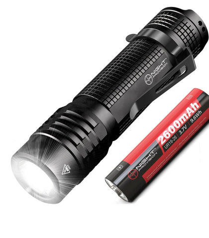 Night Provision TX8 EDC Tactical Flashlight USB Rechargeable Compact Torch NICHIA 800 Lumen LED (USB Rechargeable)