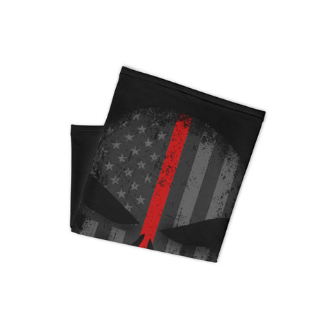 American Red Stripe Punisher Skull Breathable Neck Gaiter