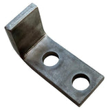 Cable guide support, stainless steel, weld to structure with 611430 cable guide bolted-on.