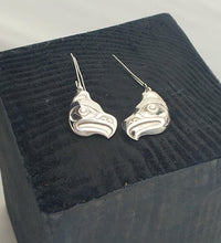 Earrings - Silver Eagle Head