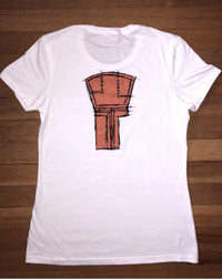Potlatch 67-67 Copper Motif White Womens T