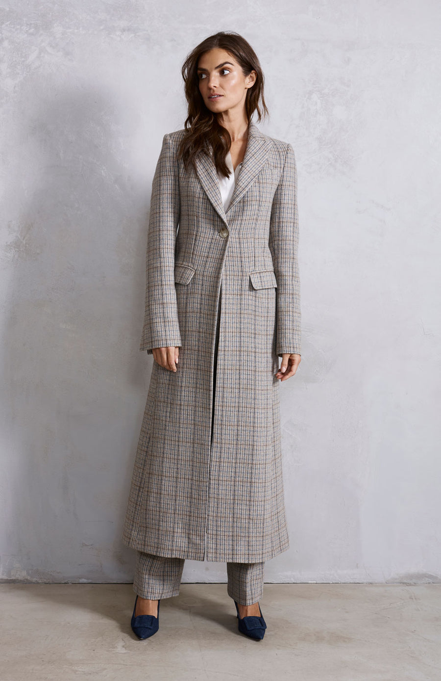 Venetian Maxi Coat - Tweed